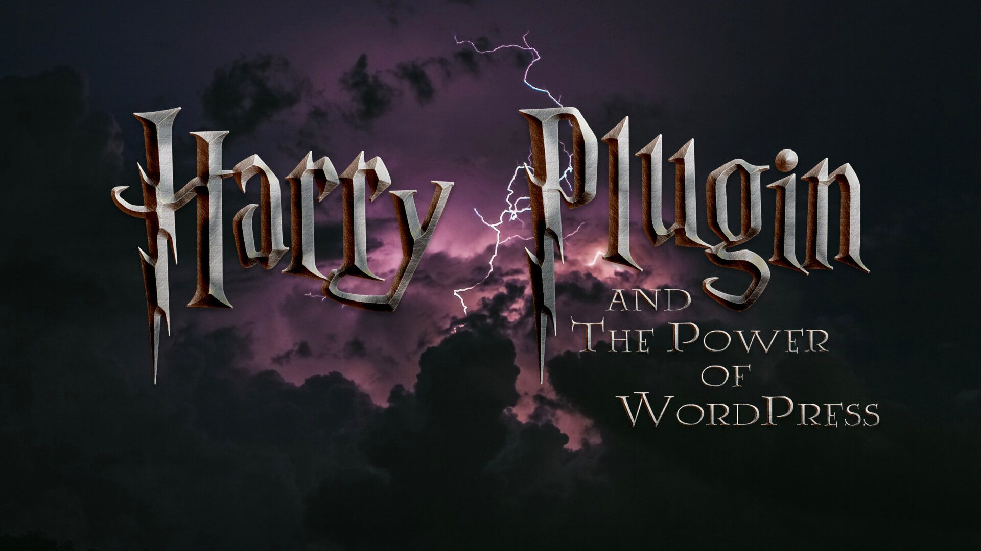 """Harry Plugin & The Power of WordPress"" written in the style of Harry Potter"