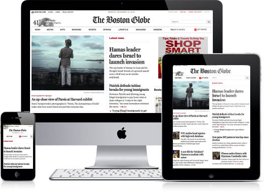 The Boston Globe on iPhone, iPad, iMac