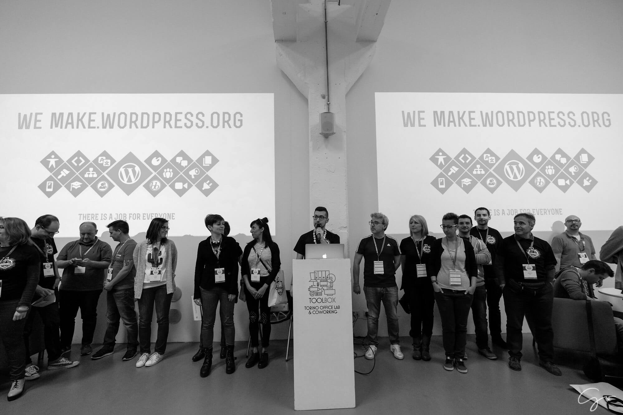 Contributor Day for WordCamp Torino 2017 - Thomas Vitale is presenting